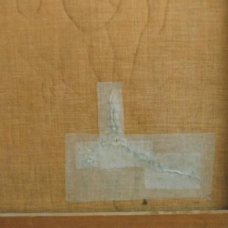 Restauratie scheur schilderij