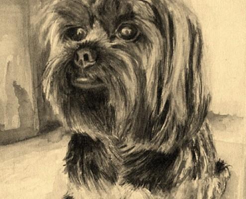 Schilderij op aanvraag: hond